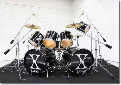 X JAPAN YOSHIKIがドラムセット